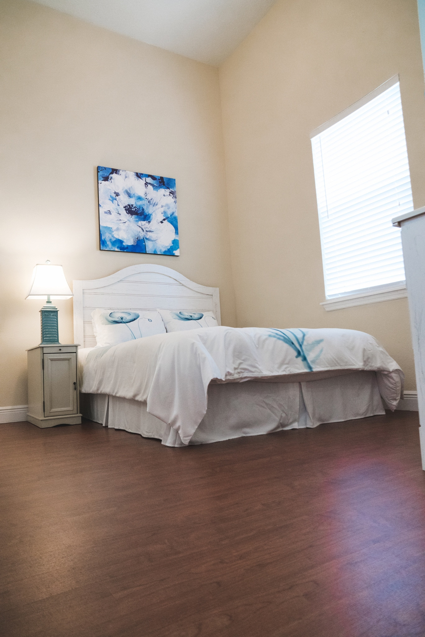 This model bedroom at Angels Senior Living at Sarasota shows off our spacious private and semi-private assisted living rooms.