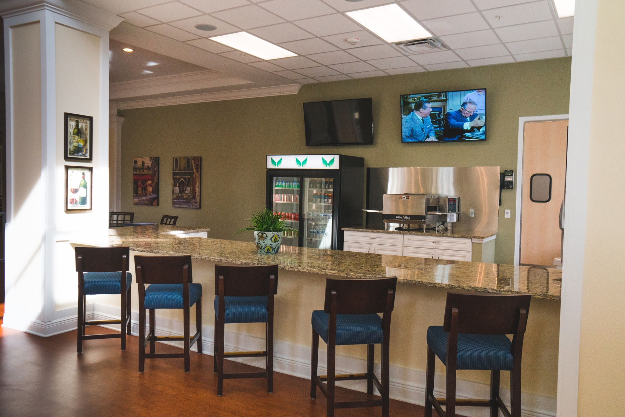 Our bistro offers the residents refreshments and entertainment in a dining environment that gives them a change of pace.