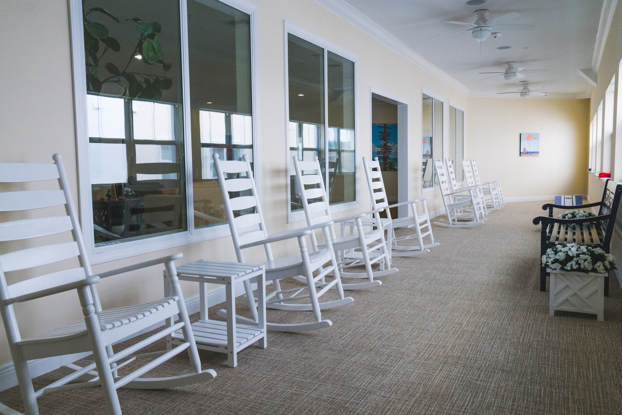The sunroom at Angels Senior Living at Sarasota offers our seniors an opportunity to soak up the Florida sun.