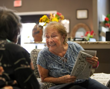 assisted living residents socializing